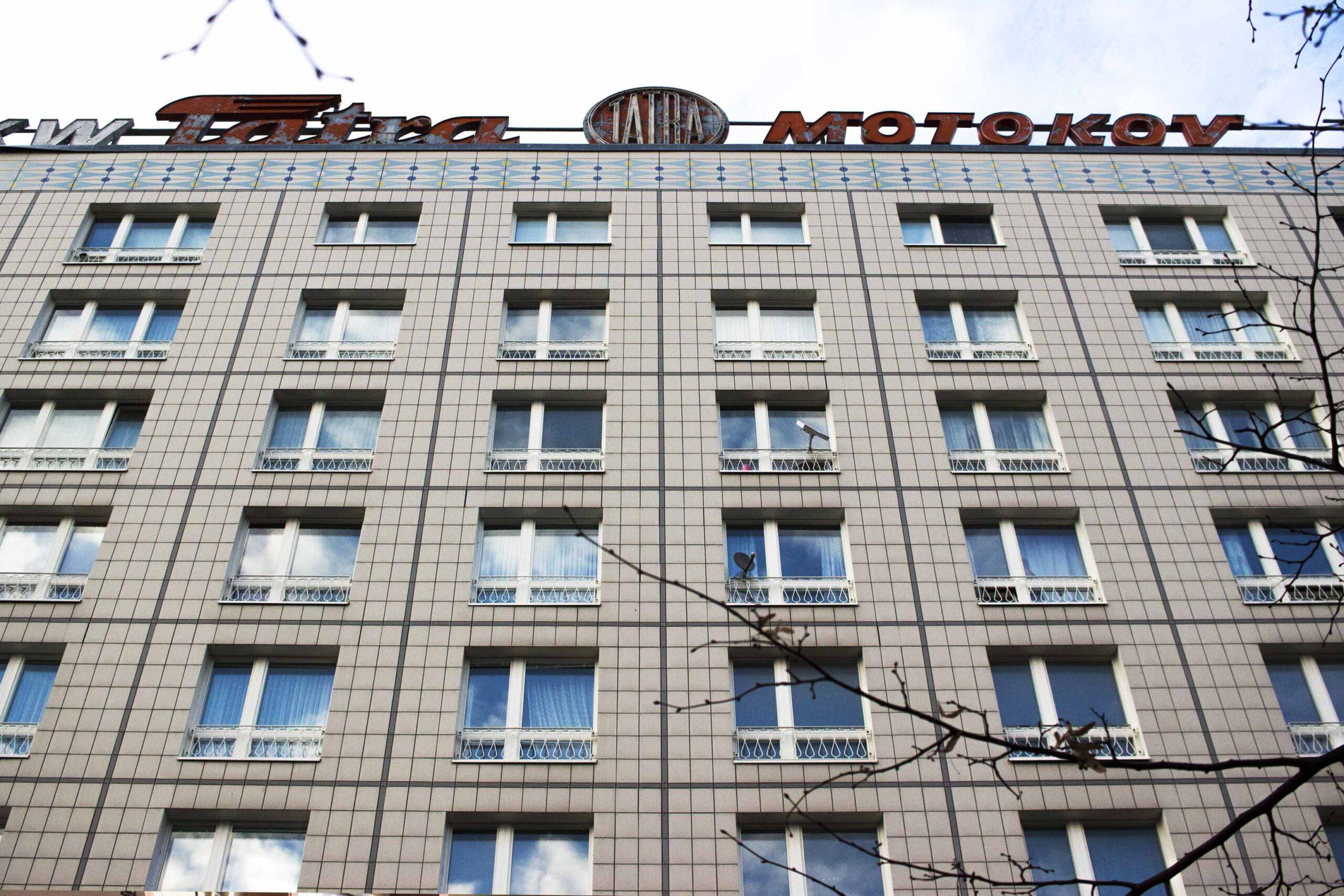 Facciata di un condominio a Berlino